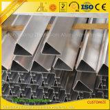 Cuadrado de aluminio de aluminio de la aleación de la protuberancia/redondo anodizado/plano/tubo oval
