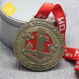 Cycle de l'émail doux souvenirs personnalisés football Médaille d'or de soccer de l'exécution