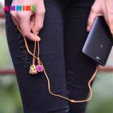 Anmiki 만화 이어폰 에서 귀 Earbuds 헤드폰은 아이 Samsung iPhone 정제 인조 인간 전화를 위한 크리스마스 생일 선물을 완전히 한다