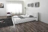 União Mobiliário Chesterfield quarto conjunto de cama em pele macia