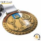 リボン(M011)が付いているカスタマイズされた亜鉛合金の金属賞のダンスメダル