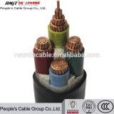 cabo distribuidor de corrente isolado XLPE/PVC/PE de alumínio de cobre do condutor 11kv