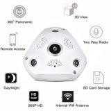 Mais novo 960p 3D VR CCTV IP WiFi sem fio Panorâmica de câmera de segurança em casa
