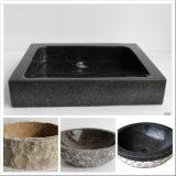 浴室および台所のための建築材料の黒の石の大理石の流し