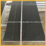 Aperfeiçoou Shanxi absoluta azulejos em granito preto piso de pedra