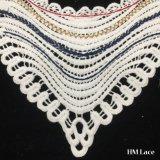 38*29cm покрасили линию Applique Cuve шнурка Neckline хлопка для женственного вспомогательного оборудования платья наиболее поздно конструируют с тканью Hm2013 шнурка ворота края кривого