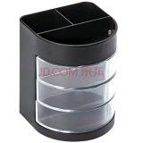 Bureau traditionnel de forme ronde et support en plastique de crayon lecteur d'appareil de bureau