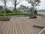 O Decking composto plástico de madeira durável/WPC ao ar livre Waterproof o revestimento