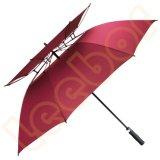 مزدوجة ظلة كبيرة رجال مطر صامد للريح لعبة غولف مظلة