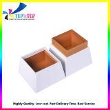 Cintilantes papel feito a tampa e caixa de perfume de Base