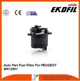Filtro de combustible de la pieza de automóvil para Peugeot Wk12001