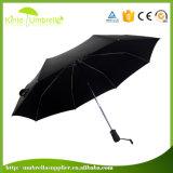 guarda-chuva compato das seções 8ribs do poliéster 3 do Pongee 190t