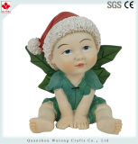 Figura decorazione del Figurine leggiadramente del bambino del foglio di stile di natale della resina mini di festa