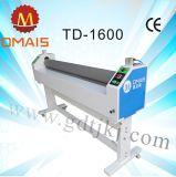 Máquina de estratificação da película fria quente elétrica larga do formato Td-1600