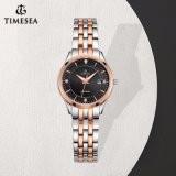 Stainless Steel Watch Lady Wrist Watch Decorated with Rhinestones 71079
