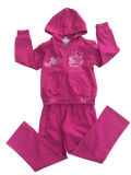 Childrenの冬Fleece Kids Girl Sport Suit 「s Wear Swg137