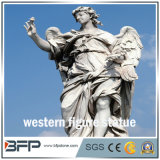 Figura occidentale statue di pietra intagliate granito naturale bianco/scultura per il giardino