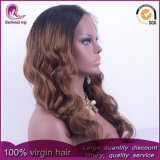 2t Brown Onda Natural Virgem Chineses Peruca Lace Frontal de cabelo