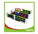 Sosta dell'interno del trampolino di divertimento di alta qualità con il cerchio e la gomma piuma di pallacanestro