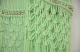 Beachwear métallique de vert de talon de modèle spécial de femmes