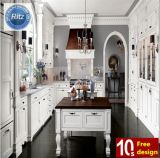 Blanco Estilo Color de madera sólida del gabinete de cocina