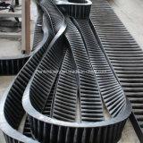 Bande de conveyeur ondulée de flanc pour l'usine sidérurgique, l'usine de charbon et les ports