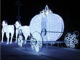 Outdoor Paysage Cheval Décoration solaire LED Lumière de Noël décoratif