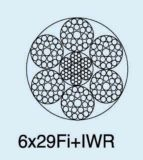 Ungalvanized 철강선 밧줄 케이블 6X29fi+Iwrc