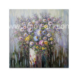 壁の装飾のための重い組織上の花の油絵