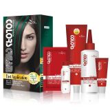 Tazol Kosmetik markiert Haar-Farbe (Malachite Grün) (60ml*2+30ml+60ml+10ml)