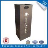 包装のワインのための標準的で黒いペーパーショッピング・バッグ