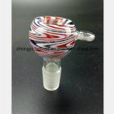 Pipe en verre principale de couleur de mâle 14.5mm, pipe de tabac de filtre de 18.8mm