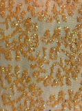 ガラス石のネットまたは網の刺繍、個々のデザイン、Fob、Pantoneカラー