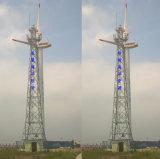 Tour en acier de télécommunications d'antenne de trellis de support d'individu