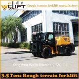 Vorkheftruck Manufactory van het Terrein van Welift 3.5t de Ruwe