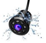 Cámara de reserva de la opinión trasera del coche con 8 la videocámara llena 170-Degree del CCD de la visión nocturna infrarroja HD impermeable