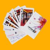 Kundenspezifischer Spielkarte-Papierschürhaken-bekanntmachende Karten