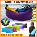 不精なソファーのたまり場の膨脹可能なエアーバッグのキャンプ休日浜のスリープの状態であるベッド