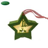 Decorazione & regali d'attaccatura delle stelle dei cervi di natale illuminati panno