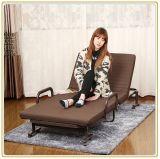 Base piegante di risparmio di Spacespace/base di sofà con il materasso 190*100cm di colore del caffè