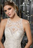 人魚のレースの花嫁衣装のウェディングドレス(8173)