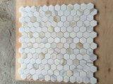 Barato y Blanco Calacatta nuevo baño de mármol del mosaico hexagonal Baldosa