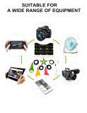 Sistema eléctrico solar, hogar e iluminación al aire libre con el panel solar