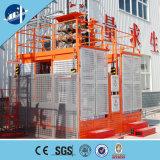 La construction a utilisé le double élévateur de construction de section de mât de peinture de cage