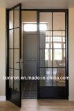 Внутренних дел стекла боковой сдвижной двери фейрли французской железной двери в зал