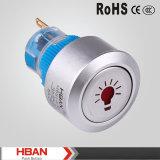 Momentané principal rond de Hban 22mm/enclenchement du commutateur de bouton poussoir avec l'illumination de logo