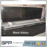 Гранит сляба черной галактики G802 Shining черный половинный