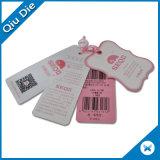Etiqueta de cartón para la ropa y calzado