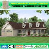 Fácil ensamblar las casas incombustibles modernas de la casa prefabricada de la estructura de acero del bajo costo