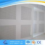 azulejo perforado del techo del yeso del orificio del diámetro de 6/8m m/el panel decorativo del azulejo del PVC del yeso